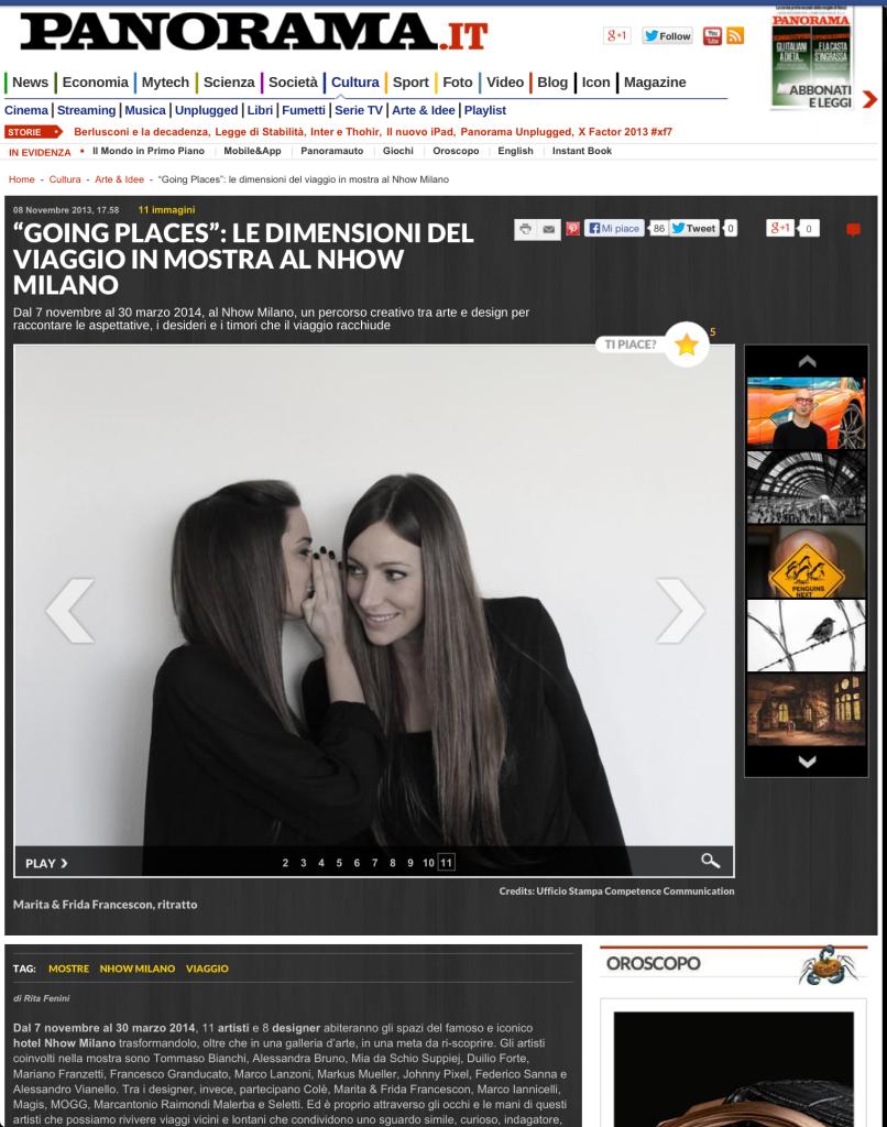 Marita Frida Francescon sisters Panorama magazine