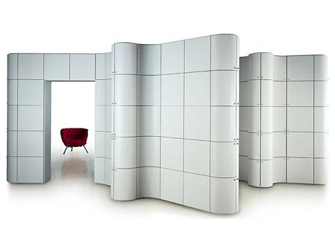Modular cabinet Paesaggi italiani by Massimo Morozzi for Edra