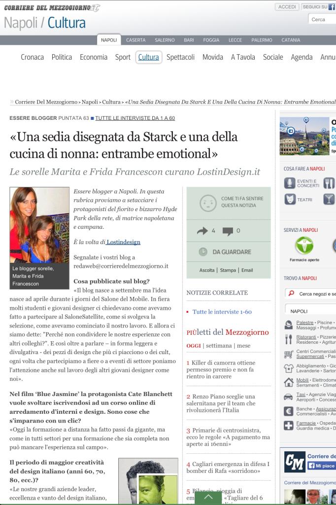 INTERVISTA CORRIERE DEL MEZZOGIORNO 19 DICEMBRE 2013_bis
