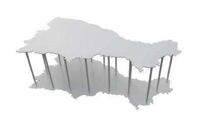 Capri iron coffee table