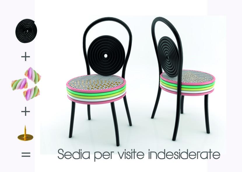 sedia per visite indesiderate concept