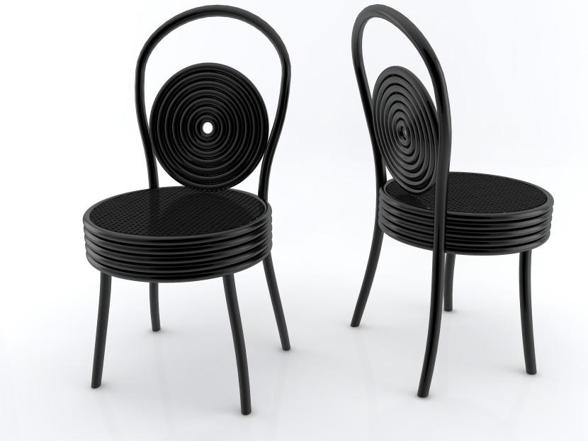 Sedia per visite indesiderate variante nera