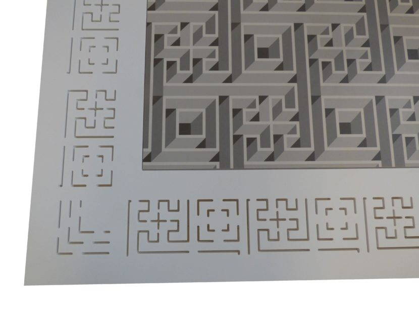 9.Tavolo Antica-Mente dettaglio piano Sorelle Francescon Refin